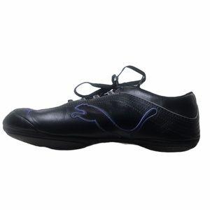Black W Purple Puma Sneakers